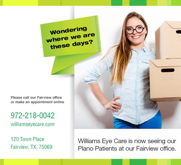 Williams Eye Care | Fairview Eye Center & Frisco Eye Care